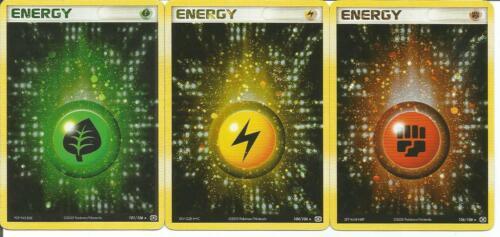 Grass Energy 101/106 - Lightning Energy 104/106 - Fighting Energy 106/106
