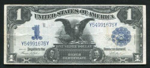"FR. 233 1899 $1 ONE DOLLAR ""BLACK EAGLE"" SILVER CERTIFICATE VERY FINE"