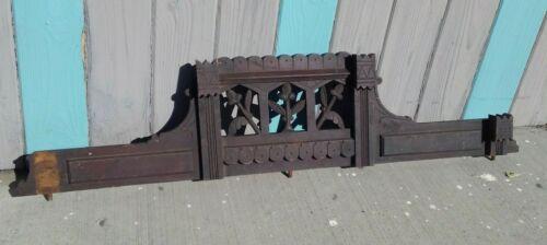 Antique Carved Wood Cabinet Pediment Crown Piece