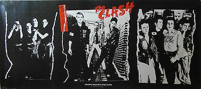 Original 1979 The Clash CBS Debut Album Promotional Poster