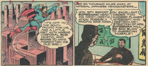RARE  VINTAGE SUPERMAN SUNDAY PAGE #204 From 1943 - JAPAN WAR!