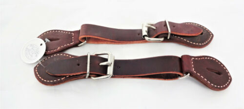 Billy Cook Leather Latigo Bronc Cinch Spur Strap Western Cowboy Rodeo Pair Horse