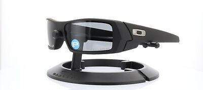 Oakley Gascan Sunglasses OO9014-02 Cerakote Black w/ Grey Polarized | 357 (Cerakote Sunglasses)