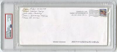 Whitey Bulger - Notorious Mobster - Autographed PSA/DNA Slabbed Envelope
