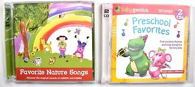 Set Of 2  Preschool Favorites Nursery Rhymes   Favorite Nature Songs Cd  New