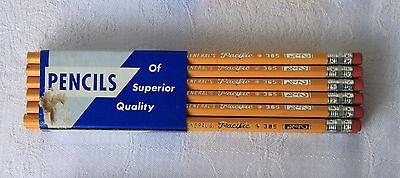 Twelve Vintage General's Pacific (365) No.2-2/4 Pencils