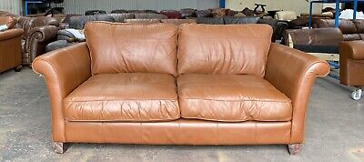 John Lewis Vintage Tan Distressed Chesterfield Style Leather Sofa .WE DELIVER