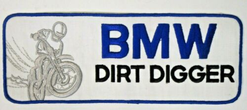 "large BMW DIRT DIGGER Motorcycle 10.75"" jacket back patch UNUSED"
