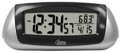 65903 Equity by La Crosse EcoTech Solar Desktop LCD Alarm Clock - Refurbished