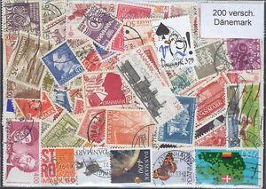 200-versch-Briefmarken-aus-Danemark