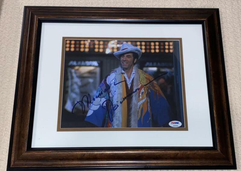 MICHAEL RICHARDS SIGNED AUTOGRAPH FRAMED 8X10 PHOTO - SEINFELD COSMO KRAMER, PSA