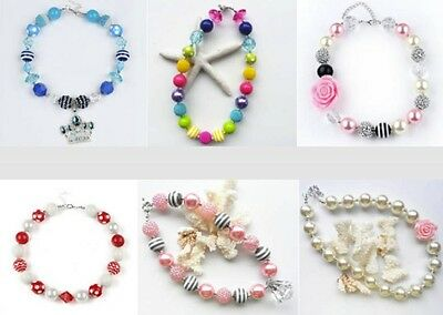 Necklaces For Little Girls (Chunky Bead Necklaces for Little Girls and Newborn Photo)