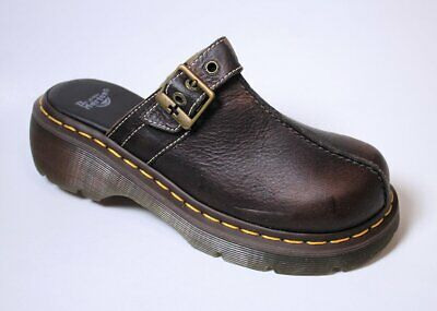 Dr Martens Club - Dr Martens Women's Club Clog Bark Brown Leather US 6 NOB NWD Sample