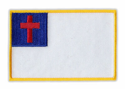 Motorcycle Jacket Embroidered Patch - Christian Flag, Religion, God Flag Motorcycle Jacket