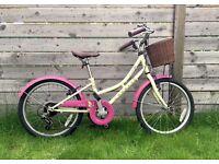 Dawes Lil Duchess 20 Inch Kids' Bike, retro cream and pink