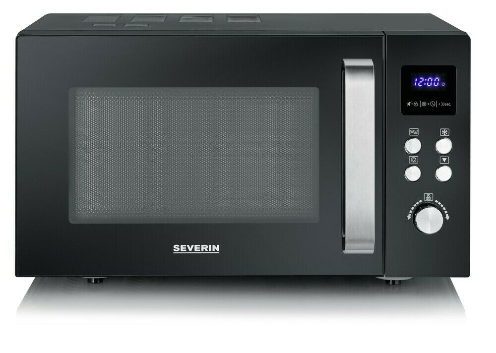 Severin Mikrowelle MW 7756 schwarz solo LED-Touch-Display 25 Liter 8 Automatik