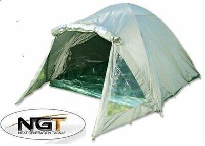 NGT 2 Man Double Skin Carp Fishing Bivvy Tent Shelter With Groundsheet
