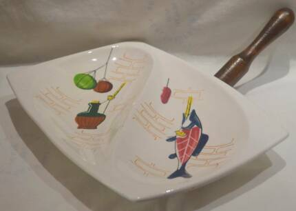 Retro Huntsman Brand Made In Japan Serving Dish c1950s