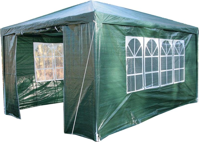 Airwave, Gazebo da giardino, incl. barra anti-vento, 3 x 4 m, colore: Verde