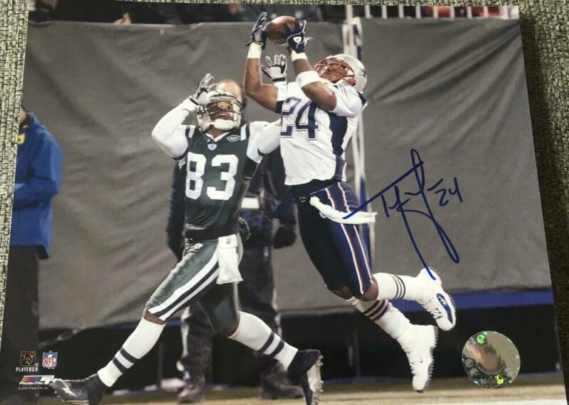 TY LAW SIGNED AUTOGRAPHED 8X10 PHOTO - NEW ENGLAND PATRIOTS FOOTBALL LEGEND COA