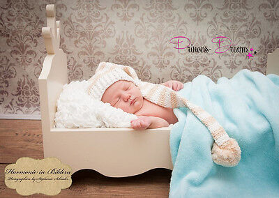 PRINCESS-DREAMS Fotoshooting Baby Junge Zipfelmütze Mütze Newborn Fotografie