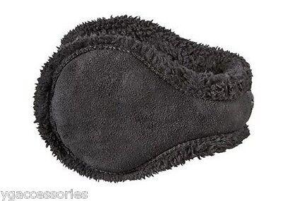NEW Degrees By 180s Sherpa W/ Fur Women Black Ear Warmers Wi