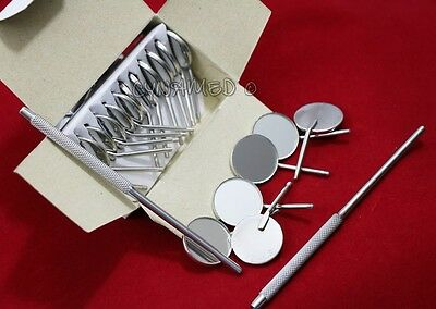 12 X Dental Mouth Mirror Heads Cone Socket 5 Plain Premium Quality 2 Free Hnd