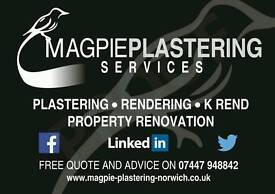 Magpie plastering & Rendering services