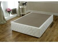 *+*BRAND NEW WRAPPED DOUBLE 4 feet 6 inches DIVAN BASE comes in 2 halves with coasters+ANTI SLIP SUR