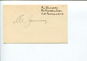 Albert-Al-Journeay-Pennsylvania-Penn-Quakers-Football-Star-Signed-Autograph