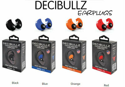 Decibullz-custom Molded Earplugs31db Highest Nrrcomfortable Hearing Protection