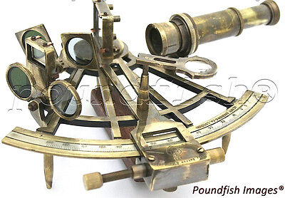 Marine Captain Sextant – Brass Nautical Sextant 8""