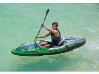 Sold but awaiting collection / Inflatable kayak. Intex Challenger K1 Kayak 9 feet
