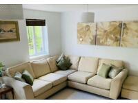 M&S Urbino 3 piece corner sofa and storage stool