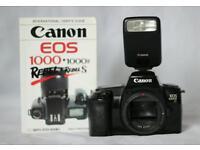 Canon EOS1000f SLR Camera/Speedlite Flash