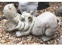 Stone garden hippopotamus superb £30