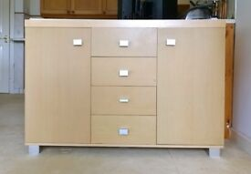 Living room unit with draws and doors