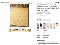 Large Mustard Colour Rug