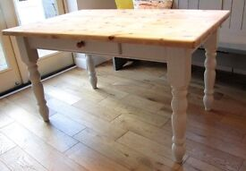 Lovely Chunky Pine Table Painted in Farrow & Ball