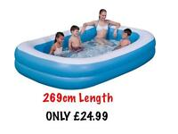 BLUE RECTANGULAR POOL FAMILY POOL -New&CHEAP*****
