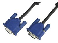 VGA DVI SVGA SCART ETHERNET OR POWER PC Laptop Monitor TV Cables