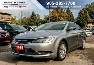 "2015 Chrysler 200 LX, 17"" WHEELS, A/C, KEYLESS ENTER N'GO, PWR W"