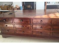 GORGEOUS 12 DRAWER COFFEE TABLE