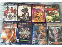 8 PlayStation 2 (PS2) Games Tomb Raider FIFA Burnout Soul Calibur