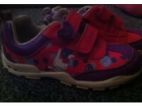 Clarks First shoes 4.5F .flashing lights