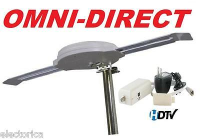 OMNI DIRECTIONAL DIGITAL HD TV ANTENNA HDTV UHF DTV INDOOR OUTDOOR RV OTA CAMPER