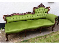 ORNATE ITALIAN / FRENCH VINTAGE BAROQUE LOUIS STYLE ROCOCO CHAISE LONGUE IN SUPERB CONDITION £265