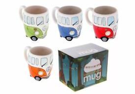 Brand New set VW camper van mugs