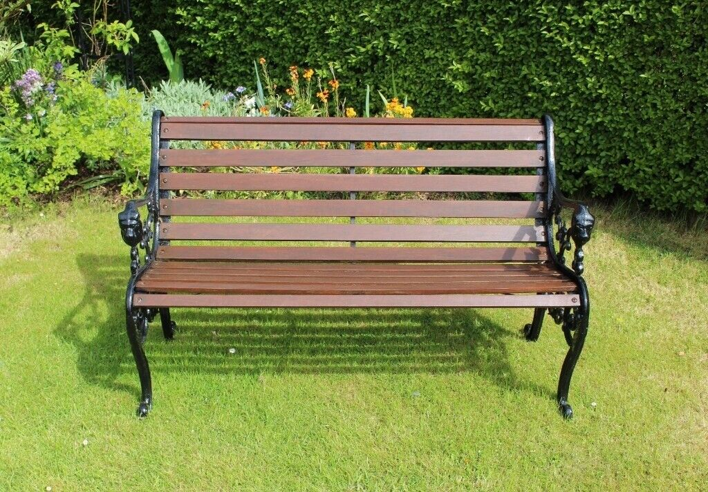 Excellent Cast Iron And Wood Garden Bench In Craiglockhart Edinburgh Gumtree Caraccident5 Cool Chair Designs And Ideas Caraccident5Info