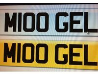 Private number plate M100 GEL